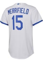 Whit Merrifield Nike Kansas City Royals Youth White 2020 Home Jersey