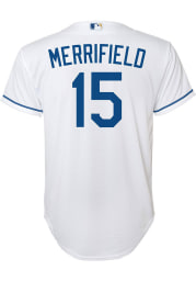 Whit Merrifield Kansas City Royals Boys White 2020 Home Baseball Jersey