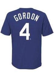 Alex Gordon Kansas City Royals Youth Blue Name Number Player Tee