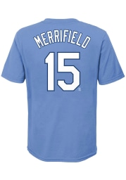 Whit Merrifield Kansas City Royals Youth Light Blue Name Number Player Tee
