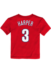 Bryce Harper Philadelphia Phillies Toddler Red Name and Number Short Sleeve Player T Shirt