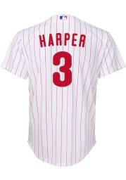 Bryce Harper Nike Philadelphia Phillies Youth White 2020 Home Jersey