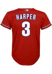 Bryce Harper Nike Philadelphia Phillies Youth Red 2020 Alternate Jersey