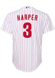 Bryce Harper Philadelphia Phillies Boys White 2020 Home Baseball Jersey