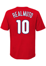 JT Realmuto Philadelphia Phillies Youth Red Name Number Player Tee