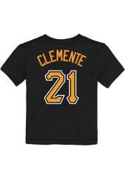Roberto Clemente Pittsburgh Pirates Toddler Black Name Number Short Sleeve Player T Shirt