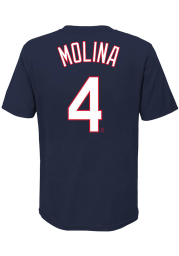 Yadier Molina St Louis Cardinals Youth Navy Blue Name Number Player Tee