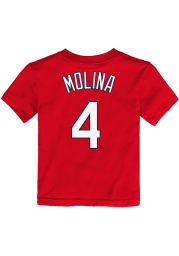 Yadier Molina St Louis Cardinals Toddler Red Name and Number Short Sleeve Player T Shirt