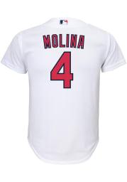 Yadier Molina St Louis Cardinals Boys White 2020 Home Baseball Jersey