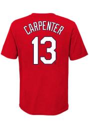 Matt Carpenter St Louis Cardinals Youth Red Name Number Player Tee