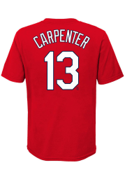 Matt Carpenter St Louis Cardinals Boys Red Name Number Short Sleeve T-Shirt