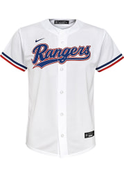 Nike Texas Rangers Youth White 2020 Home Jersey