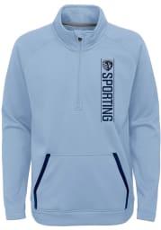 Sporting Kansas City Youth Light Blue Stealth Mode Long Sleeve Quarter Zip Shirt