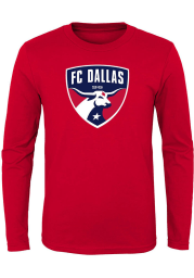 FC Dallas Youth Red Primary Logo Long Sleeve T-Shirt