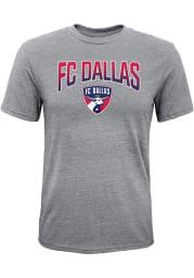 FC Dallas Youth Grey Get Fade Short Sleeve Fashion T-Shirt