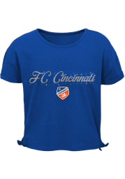 FC Cincinnati Girls Blue Love Short Sleeve Fashion T-Shirt