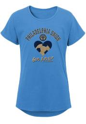 Philadelphia Union Girls Light Blue Forever Girl Short Sleeve Tee