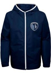 Sporting Kansas City Youth Navy Blue Team All Star Long Sleeve Full Zip Jacket