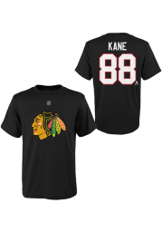 Chicago Blackhawks Youth Black Name and Number Player Tee