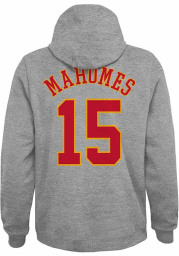 Patrick Mahomes Outer Stuff Kansas City Chiefs Youth Name Number Long Sleeve Player Hoodie Grey
