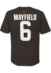 Baker Mayfield Cleveland Browns Youth Brown Name Number Player Tee