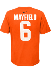 Baker Mayfield Cleveland Browns Youth Orange Name Number Player Tee