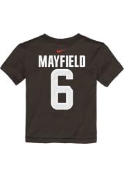 Baker Mayfield Cleveland Browns Toddler Brown Name Number Short Sleeve Player T Shirt