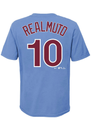 JT Realmuto Philadelphia Phillies Youth Light Blue Name and Number Player Tee