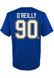 Ryan O'Reilly St Louis Blues Boys Blue Name Number Short Sleeve T-Shirt