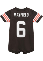 Baker Mayfield Cleveland Browns Baby Brown Nike Romper Football Jersey