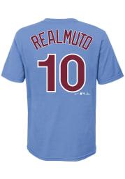 JT Realmuto Philadelphia Phillies Boys Light Blue Name and Number Short Sleeve T-Shirt
