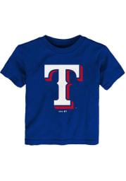 Texas Rangers Toddler Blue Secondary Short Sleeve T-Shirt