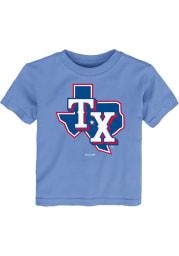 Texas Rangers Toddler Light Blue Alternate Logo Short Sleeve T-Shirt