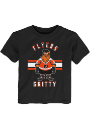 Gritty Outer Stuff Philadelphia Flyers Youth Black Gritty Life Short Sleeve T-Shirt