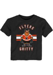 Gritty Outer Stuff Philadelphia Flyers Boys Black Gritty Life Short Sleeve T-Shirt