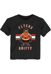 Gritty Outer Stuff Philadelphia Flyers Toddler Black Gritty Life Short Sleeve T-Shirt