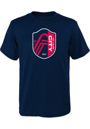 St Louis City SC Youth Navy Blue Our City Short Sleeve T-Shirt