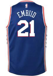 Joel Embiid Nike Philadelphia 76ers Youth Icon Blue Basketball Jersey