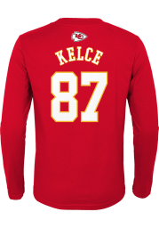 Travis Kelce Outer Stuff Kansas City Chiefs Youth Red Player Long Sleeve T-Shirt