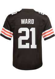 Denzel Ward Cleveland Browns Youth Brown Nike Gameday Football Jersey