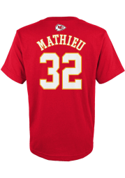 Tyrann Mathieu Kansas City Chiefs Youth Red Name and Number Player Tee