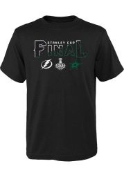 Dallas Stars Youth Black 2020 Stanley Cup Final Participant Short Sleeve T-Shirt
