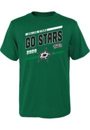 Dallas Stars Boys Kelly Green 2020 Stanley Cup Final Participant Slogan Short Sleeve T-Shirt