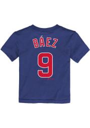 Javier Baez Chicago Cubs Infant NN Short Sleeve T-Shirt Blue