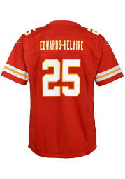 Clyde Edwards-Helaire Kansas City Chiefs Youth Red Nike Game Football Jersey
