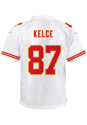 Travis Kelce Kansas City Chiefs Youth White Nike Game Football Jersey