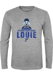 Louie Outer Stuff St Louis Blues Youth Grey Its Not Easy Being Louie Long Sleeve T-Shirt