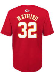 Tyrann Mathieu Kansas City Chiefs Boys Red Mainliner NN Short Sleeve T-Shirt