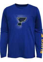 St Louis Blues Boys Blue Stop The Clock Long Sleeve T-Shirt