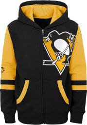 Pittsburgh Penguins Youth Black Faceoff Long Sleeve Full Zip Jacket